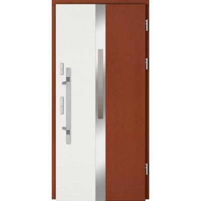 Dvi spalvos abejose durų pusėse